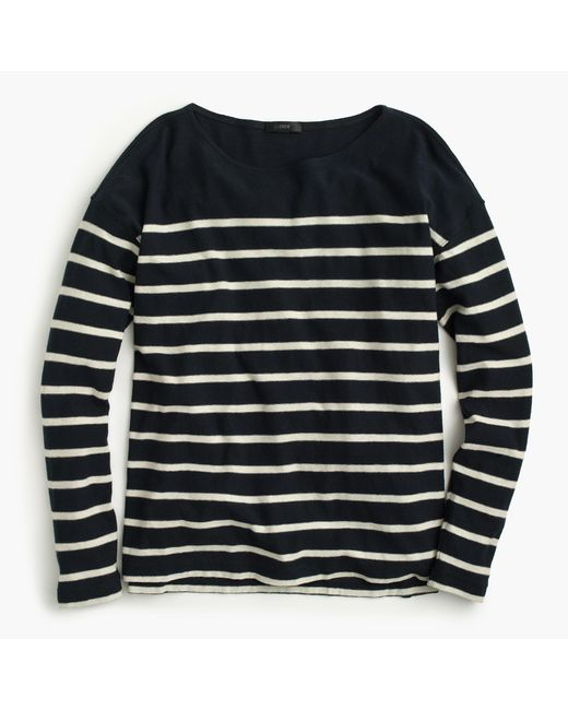 J.Crew | Blue Deck-striped T-shirt | Lyst
