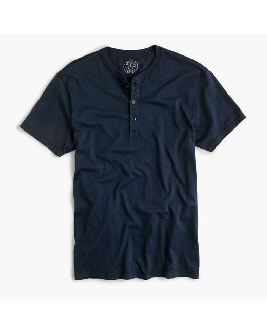 J.Crew | Blue Slim Broken-in Short-sleeve Henley for Men | Lyst