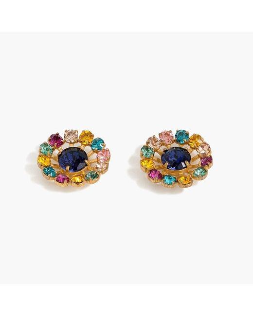 J.Crew - Blue Snowflake Stud Earrings - Lyst