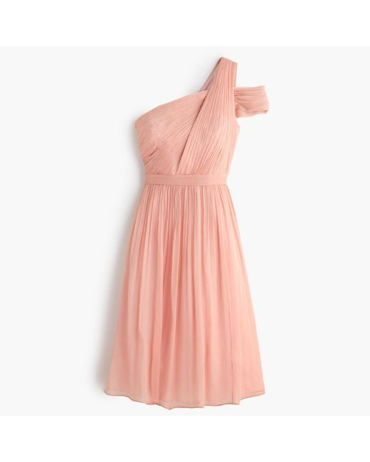 J.Crew | Pink Cara Dress In Silk Chiffon | Lyst