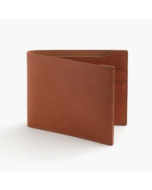 J.Crew | Brown Billfold Wallet In Italian Leather for Men | Lyst