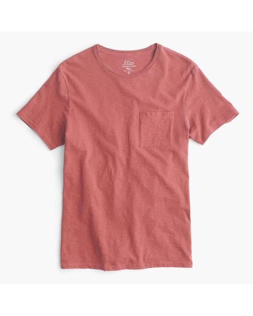 J.Crew | Red Garment-dyed T-shirt for Men | Lyst