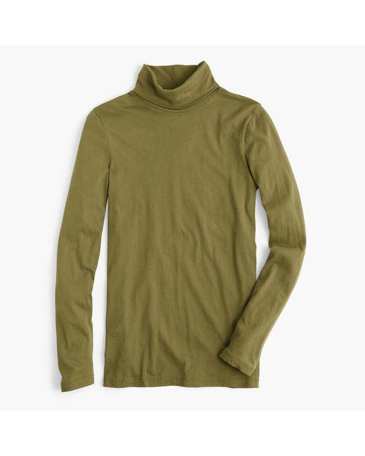 J.Crew | Green Tissue Turtleneck T-shirt | Lyst