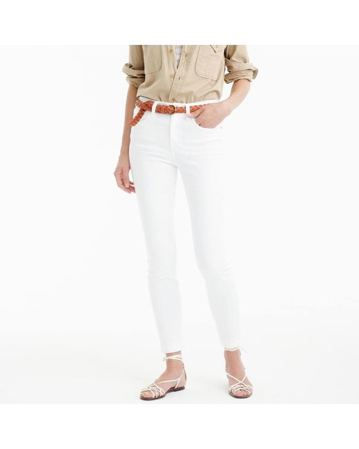 "J.Crew - Tall 9"" Lookout High-rise Jean In White - Lyst"