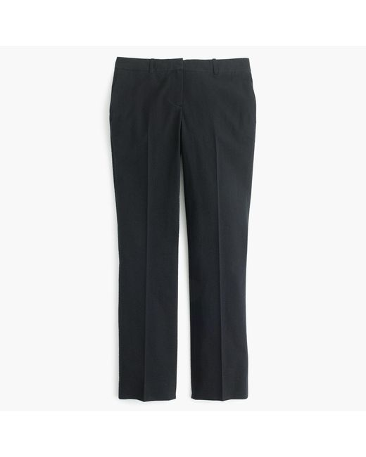 J.Crew | Black Tall Cropped Trouser In Seersucker | Lyst