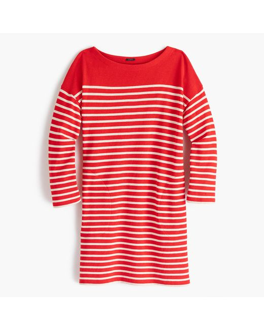 J.Crew | Red Striped Boatneck Tunic | Lyst