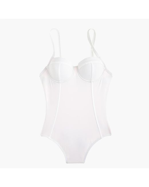 J.Crew | White Demi Underwire One-piece Swimsuit | Lyst