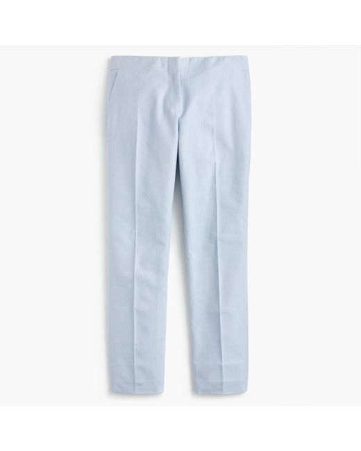 J.Crew | Blue Paley Pant In Italian Cotton | Lyst