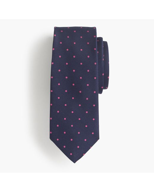 J.Crew | Blue Silk Tie In Dot for Men | Lyst