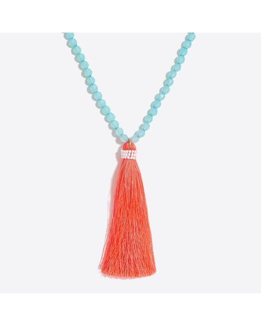 J.Crew - Multicolor Neon Thread Tassel Pendant - Lyst