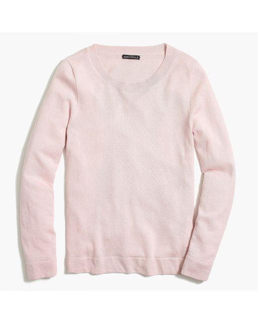 J.Crew - Pink Cotton-wool Teddie Sweater - Lyst
