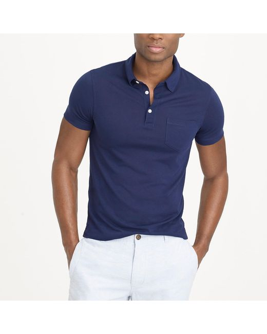 J.Crew - Blue Performance Polo Shirt for Men - Lyst