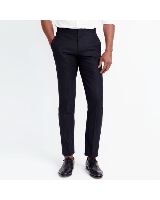 J.Crew - Black Slim Thompson Tuxedo Pant for Men - Lyst