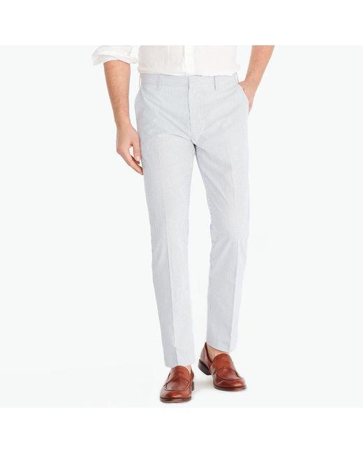 J.Crew - Multicolor Slim-fit Thompson Suit Pant In Seersucker for Men - Lyst