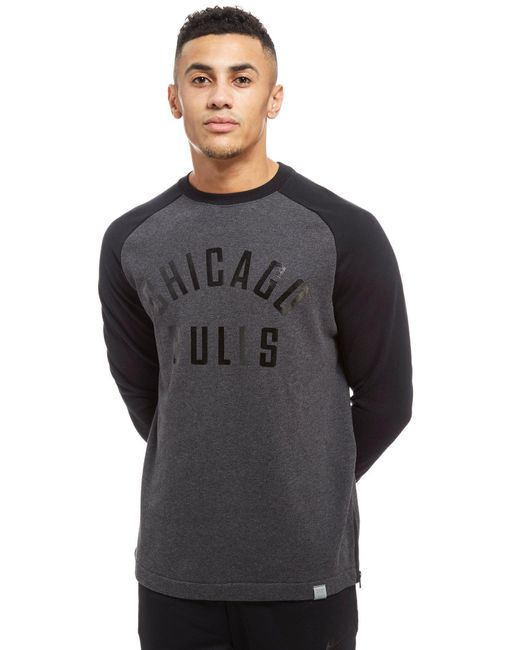 Nike - Gray Nba Chicago Bulls Crew Fleece Top for Men - Lyst