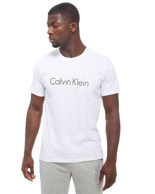 Calvin Klein   White Core T-shirt for Men   Lyst