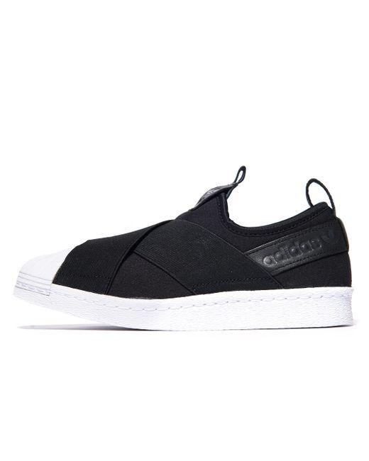 Adidas Originals   Black Superstar Slip-on   Lyst