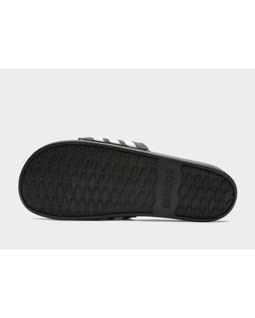 e9b71e20c ... Adidas - Black Adilette Cloudfoam Plus Stripes Slides for Men - Lyst ...