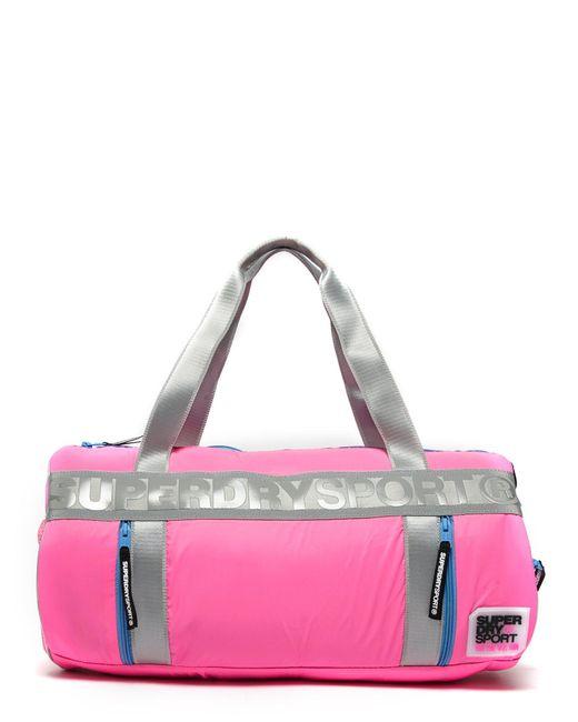 Superdry | Pink Sport Barrel Bag for Men | Lyst