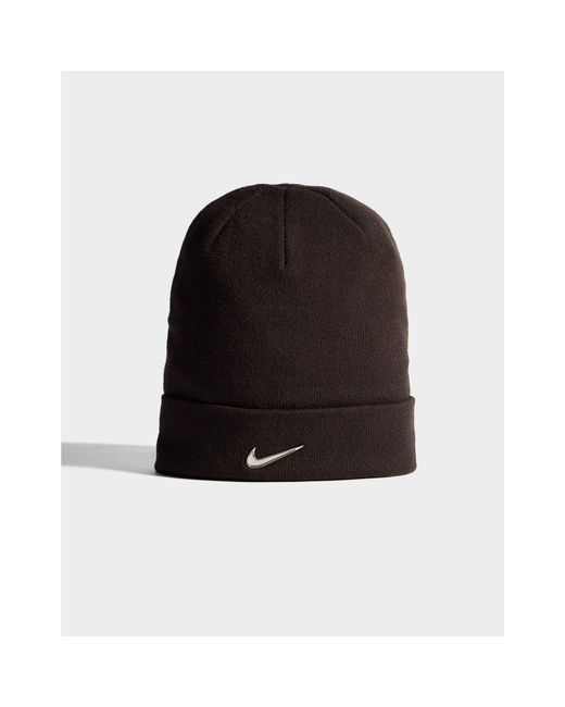 447a947e405 Lyst - Nike Swoosh Beanie Hat in Black for Men - Save 10%
