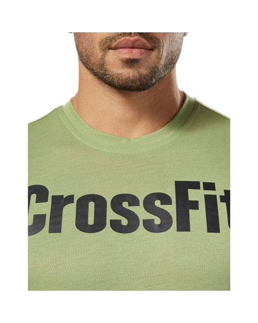 c01cb335 ... Reebok - Green Crossfit Speedwick F.e.f. Graphic Tee for Men - Lyst ...