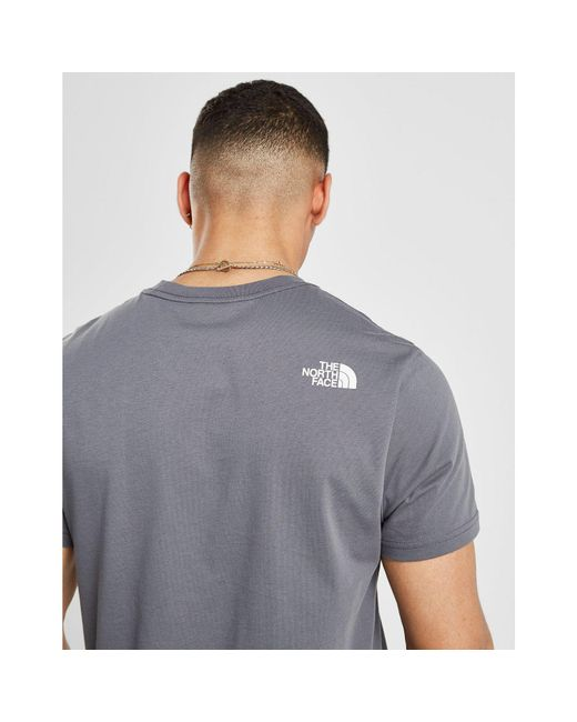 7e3b3992 ... The North Face - Gray New Stripe 19 T-shirt for Men - Lyst ...