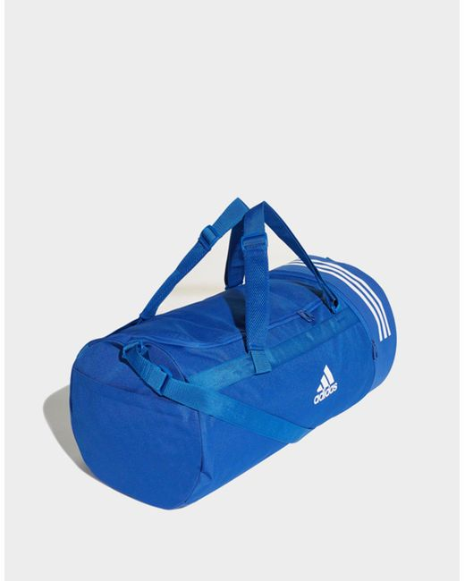 b23586d31a11 adidas convertible 3 stripes duffel sports bag in blue for men lyst ...