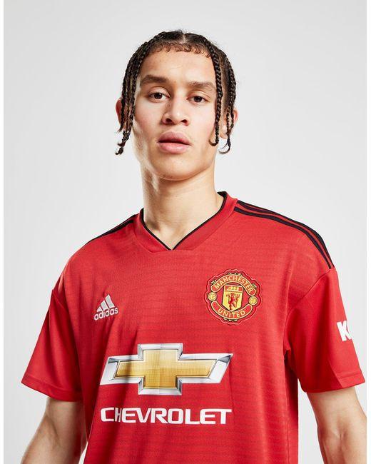 a2d4668f3da ... Adidas - Red Manchester United Fc 2018 19 Alexis  7 Home Shirt for Men  ...