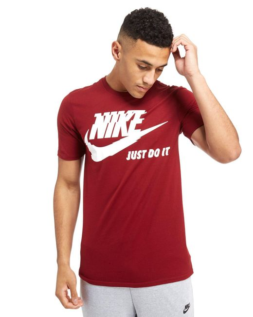 Nike | Red Futura Just Do It T-shirt for Men | Lyst