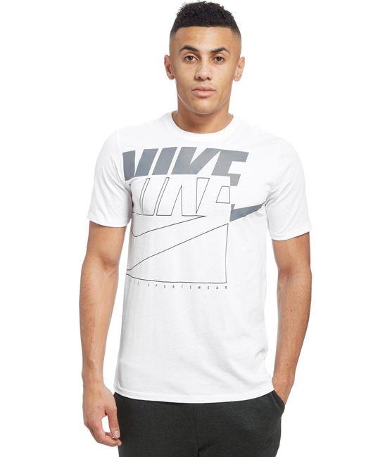Nike - White Futura Outline T-shirt for Men - Lyst