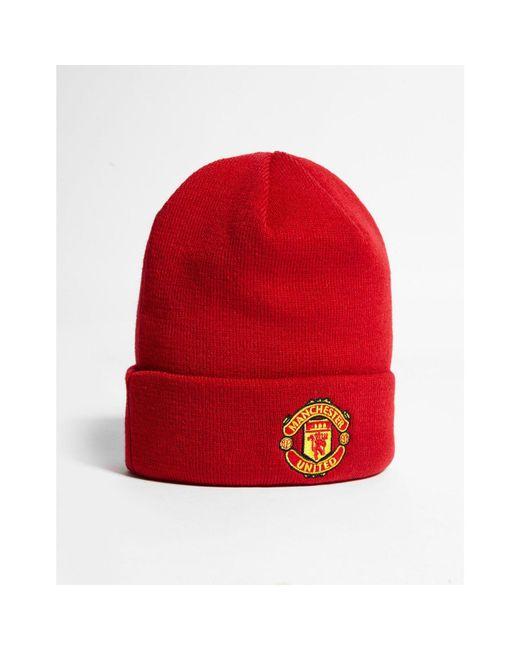 2761ba8f2e7433 ... KTZ - Red Manchester United Fc Basic Cuff Beanie Hat for Men - Lyst ...