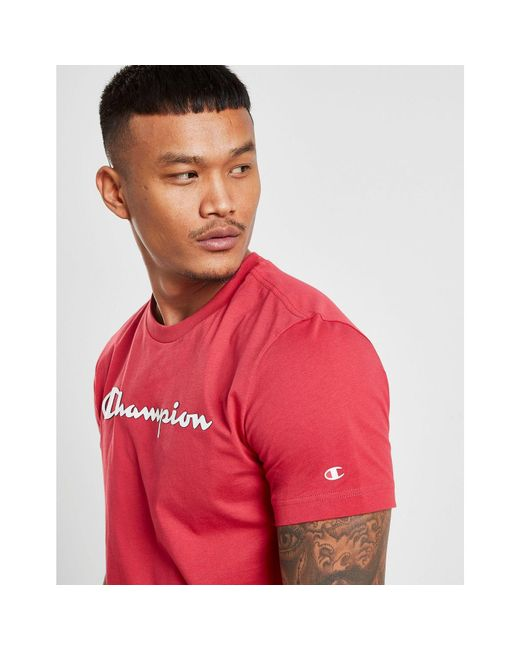 eced86fd6af1 ... Champion - Red Core Script T-shirt for Men - Lyst