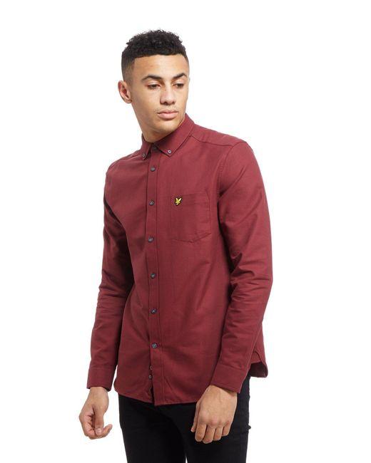 Lyle & Scott | Red Oxford Long Sleeve Shirt for Men | Lyst