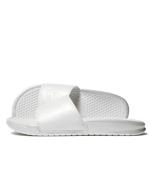 Nike - White Benassi Slides - Lyst