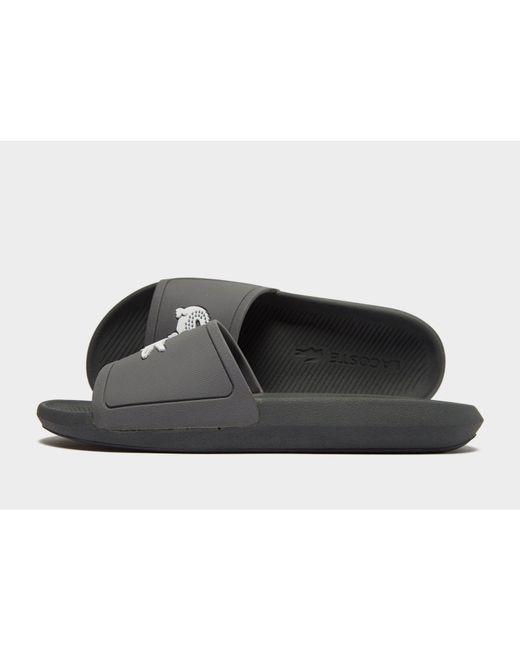 Lacoste - Gray Croco Slides for Men - Lyst