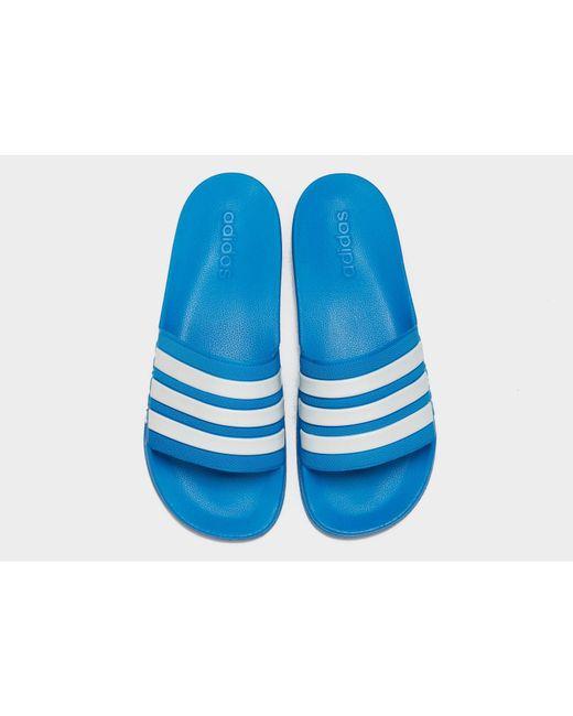 ba7158bc5c114 ... Adidas Originals - Blue Adilette Cloudfoam Slides for Men - Lyst ...