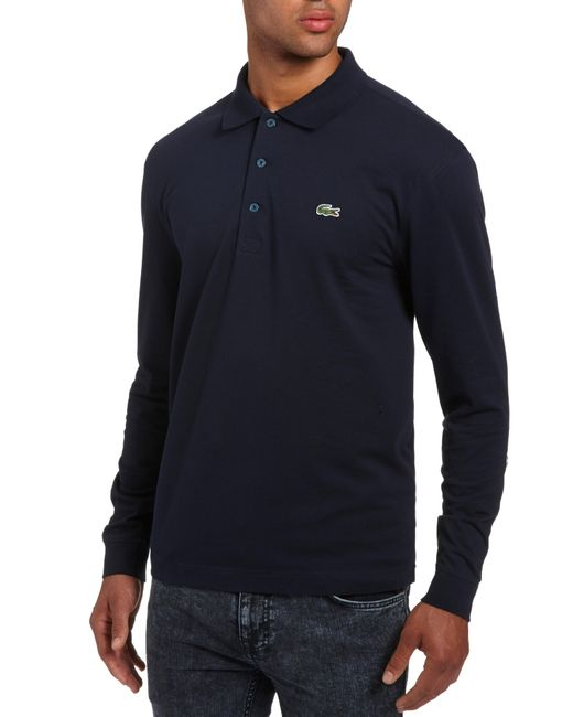 Lacoste - Blue Long Sleeve Polo Shirt for Men - Lyst