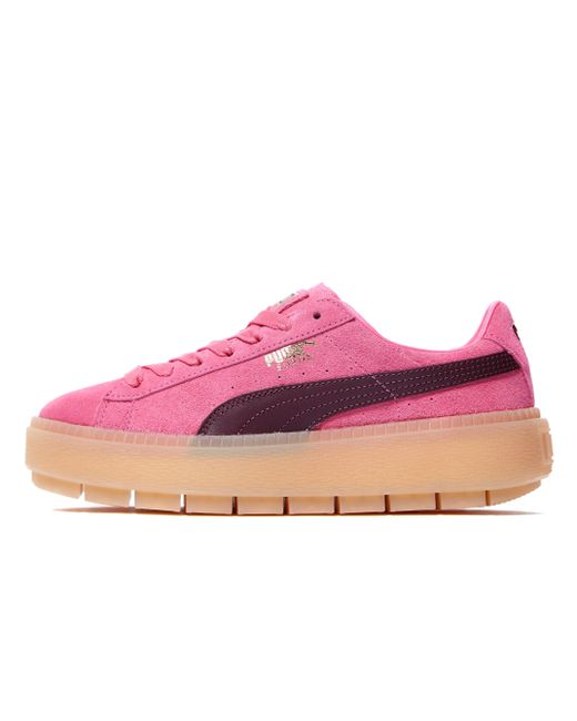 Puma Suede Platform Trace in Pink for Men  f1c8f679f