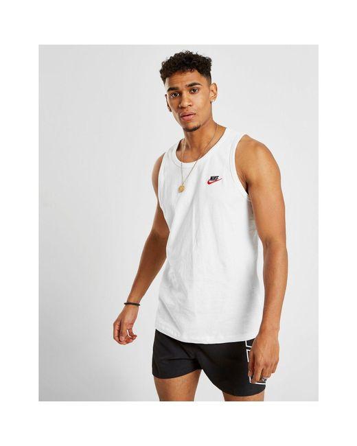 3617de0d8a215 ... Nike - White Foundation Tank Top for Men - Lyst ...