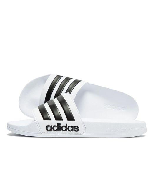 fa940d886d9a9 Adidas - White Cloudfoam Adilette Slides for Men - Lyst ...