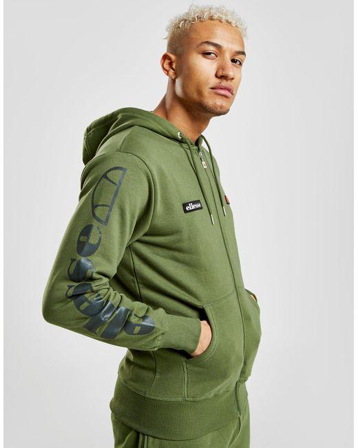 c6d3d5b27d Ellesse Carlint Zip Through Hoodie in Green for Men - Lyst