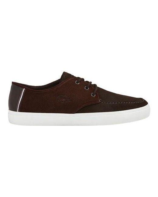 Lacoste   Brown Sevrin Moc Toe Shoe for Men   Lyst