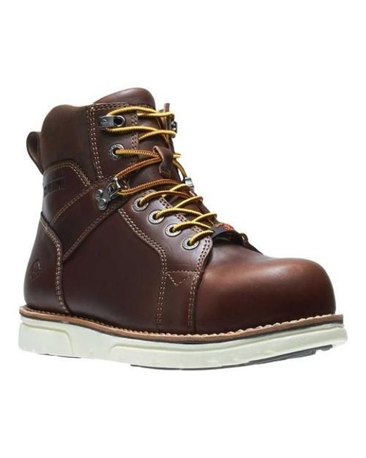 f4e461eadcf Men's Brown I-90 Durashocks Wedge Elite Soft Toe Boot