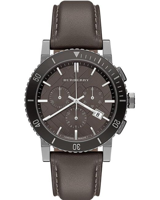 Burberry | Multicolor Leather Chronograph Mens Watch Bu9384 for Men | Lyst