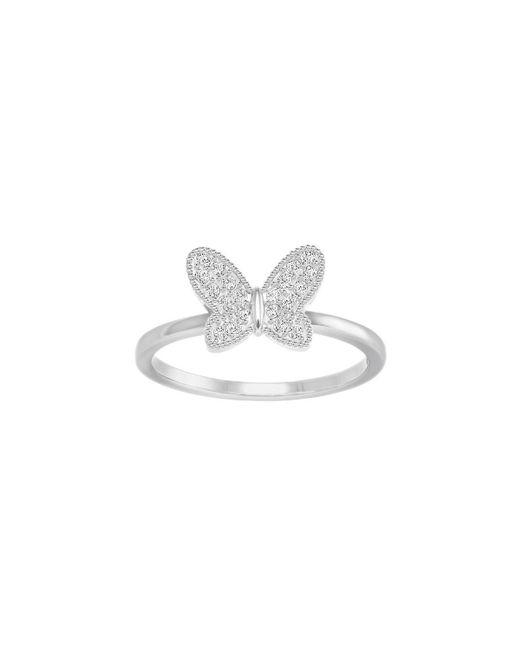 Swarovski   Metallic Field Butterfly Ring Size: 7   Lyst