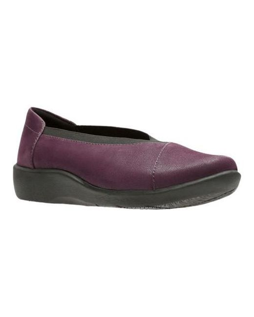 Clarks | Purple Sillian Holly Flat | Lyst