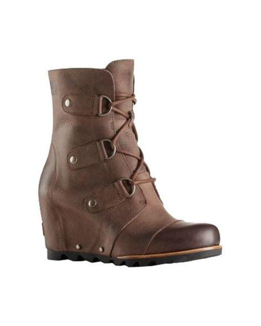 Sorel | Brown Joan Of Arctic Wedge Mid Boot | Lyst