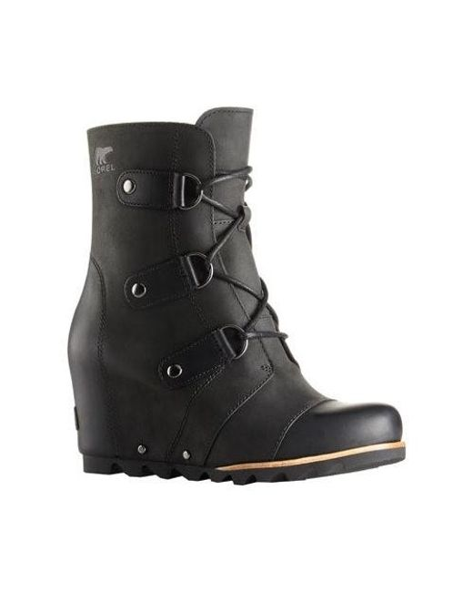 Sorel | Black Joan Of Arctic Wedge Mid Boot | Lyst