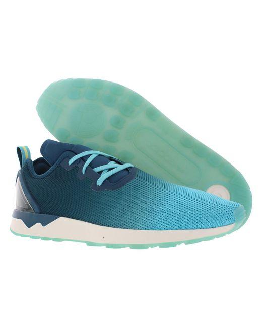 Adidas - Blue Zx Flux Adv Asym Shoes for Men - Lyst