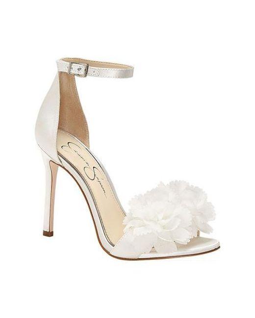 e5bc8f7d77c Lyst - Jessica Simpson Jeena Heeled Sandal in White